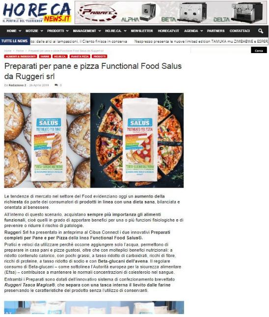 pane pizza salus preparati ruggeri
